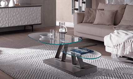 Table en verre twist sasso plateau tournant 2