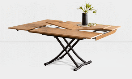 Table basse relevable extensible Piu Piu 1