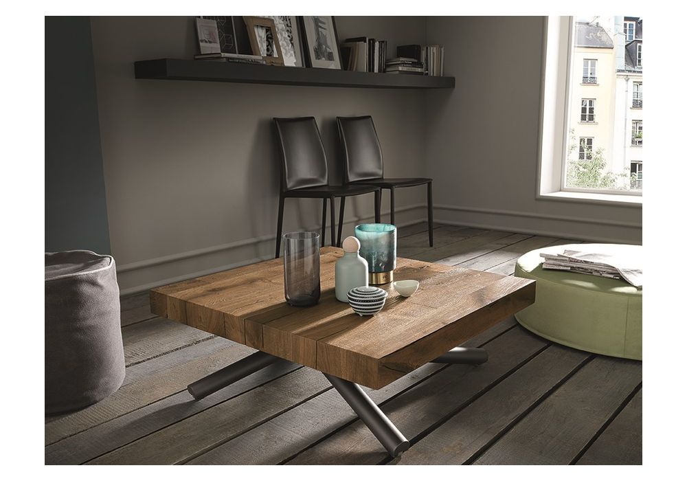 Table bois extensible design 4 X 4