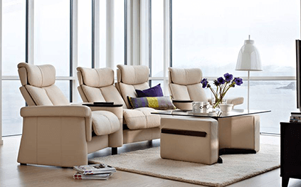 Canape Relaxation Stressless Legend 3 Places Bas